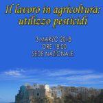 Il lavoro in agricoltura:utilizzo pesticidi